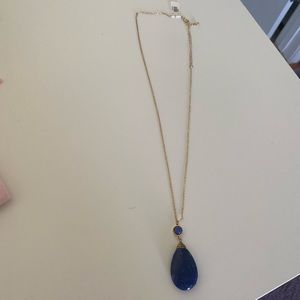 Lou Lou Jewelry - Long NWT Blue Necklace witch Gold Chain